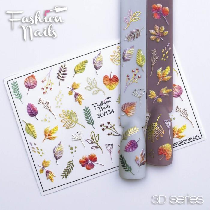 Осенний Слайдер-дизайн - Слайдер -дизайн Осень,Листья - 3D наклейки для дизайна ногтей - Слайдер осень