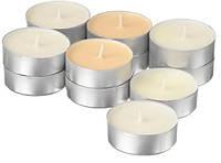 Свечи таблетки чайные ароматические IKEA SINNLIG 12 шт х 9 часов горения декоративные ваниль ИКЕА СІНЛІГ