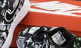 Кроссовки женские Nike Air Force 1 Low Worldwideв стиле Найк Форсы Черные (Реплика ААА+), фото 7