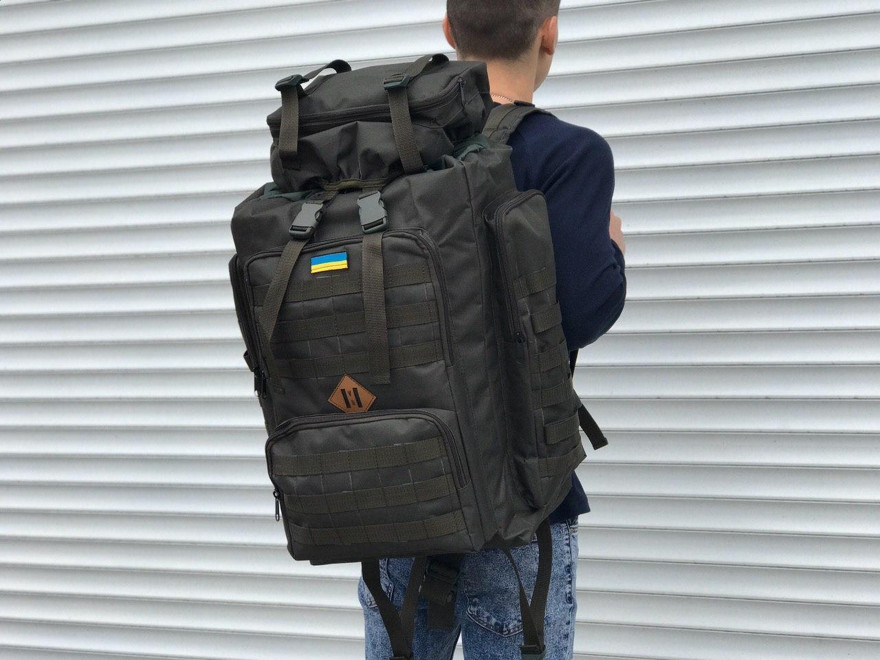 Качественный военный тактический рюкзак на 65 литров, хаки