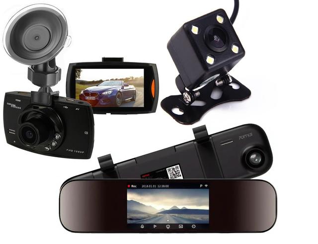 Відеореєстратори, камери заднього виду
