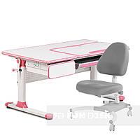 Комплект парта для девочек Cubby Toru Pink + подростковое кресло для дома FunDesk Ottimo Grey