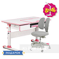 Комплект парта для девочек Cubby Toru Pink + подростковое кресло для дома FunDesk Primo Grey