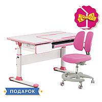 Комплект парта Cubby Toru Pink + подростковое кресло для дома FunDesk Primo Pink, фото 1