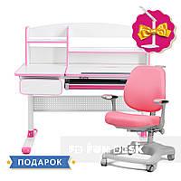 Комплект для принцессы 👸 Cubby Rimu Pink + ортопедическое кресло FunDesk Delizia Pink