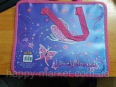 Папка-портфель на блискавці з тканими ручками Kidis для дівчинки Butterfly 715 7 фіолетовий