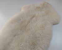 Натуральная меховая накидка из овечьей шкуры белая 1.20 см * 70 см.