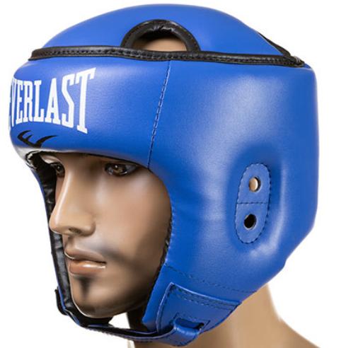 Боксерский шлем открытый тренировочный EVERLAST FLEX Для единоборств Синий (EVF450-BL) S