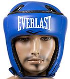 Боксерский шлем открытый тренировочный EVERLAST FLEX Для единоборств Синий (EVF450-BL) S, фото 2