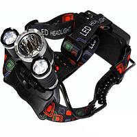 Налобний акумуляторний ліхтар Police BL-RJ3000-T6, ліхтарик на голову, налобний ліхтар для риболовлі