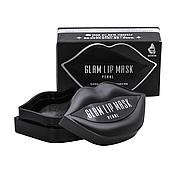 Патчи для губ с экстрактом жемчуга BeauuGreen Glam Black Pearl Hydrogel Lip Patch 20 шт