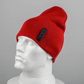 Молодежная шапка Домик (20104) Красный