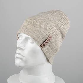 Молодежная шапка Домик (20104) Лен