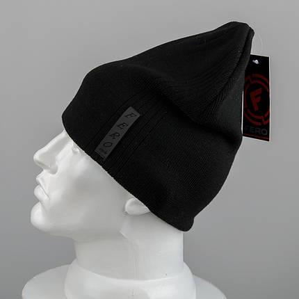 Молодежная шапка Домик (20104) Черный, фото 2