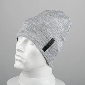 Молодежная шапка Домик (20104) Светло-серый