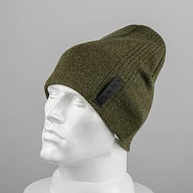 Молодежная шапка Домик (20104) Хаки