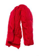 Красивый оригинальный теплый вязаный шарфик Polo Pawonex., фото 3