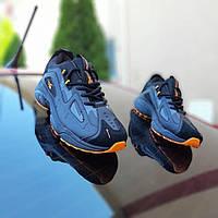 Мужские кроссовки спортивные в стиле Reebok DMX Чёрный с оранжевым, фото 1