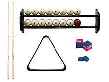 Комплект для гри в більярд російську піраміду 6,7,8 футів Класик з кулями, полицею, киями, крейдою