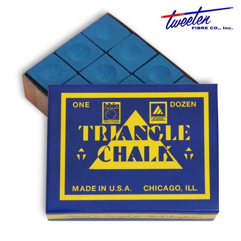 Мел для бильярда Triangle Blue 12 шт