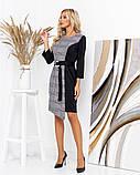 Трикотажное платье с контрастной вставкой 35-287, фото 3