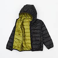 Куртка детская и подростковая на синтепоне графит на 3-15 лет