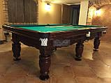 Бильярдный стол для пирамиды ФЕРЗЬ 8 футов Ардезия 2.2 м х 1.1 м из натурального дерева, фото 3