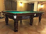 Бильярдный стол для пирамиды ФЕРЗЬ 8 футов Ардезия 2.2 м х 1.1 м из натурального дерева, фото 4