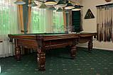 Бильярдный стол для пирамиды Ферзь Плюс 9 футов Ардезия 2.6 м х 1.3 м из натурального дерева, фото 7
