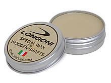 Воск для обработки бильярдного кия Longoni Special Wax 30 г бежевого цвета