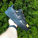 Кроссовки мужские в стиле Nike Air Force 1 x Off-White Low Just Do It Pack Черные, фото 3