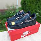 Кроссовки мужские в стиле Nike Air Force 1 x Off-White Low Just Do It Pack Черные, фото 2