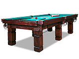 Більярдний стіл для гри в Рускую піраміду АСКОЛЬД 10 футів Ардезія 2.8 м х 1.4 м, фото 2