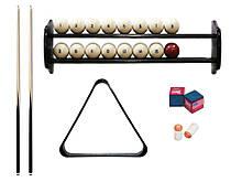 Комплект для гри в російську піраміду 6,7,8 футів Стандарт з полицею, кулями і трикутником
