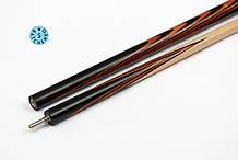 Кий бильярдный Батченко 2х5 Черный граб Белинга 160 см для русской пирамиды или Американского пула