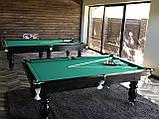 Бильярдный стол для пирамиды КЛАССИК 2 12 футов ЛДСП 3.6 м х 1.8 м из натурального дерева, фото 3