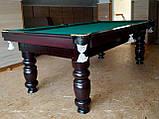 Бильярдный стол для пирамиды КЛАССИК 2 12 футов ЛДСП 3.6 м х 1.8 м из натурального дерева, фото 8