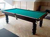 Бильярдный стол для пирамиды КЛАССИК 2 12 футов ЛДСП 3.6 м х 1.8 м из натурального дерева, фото 9