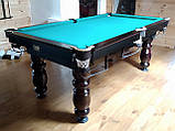 Бильярдный стол для пирамиды КЛАССИК 2 12 футов ЛДСП 3.6 м х 1.8 м из натурального дерева, фото 10