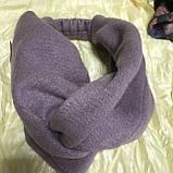 Широка пов'язка-чалма трикотажна колір тільки бузковий, фото 2