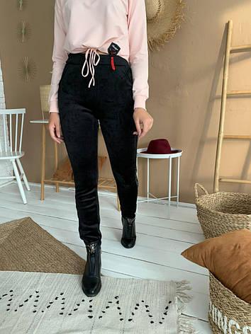Велюровые штаны на меху, фото 2