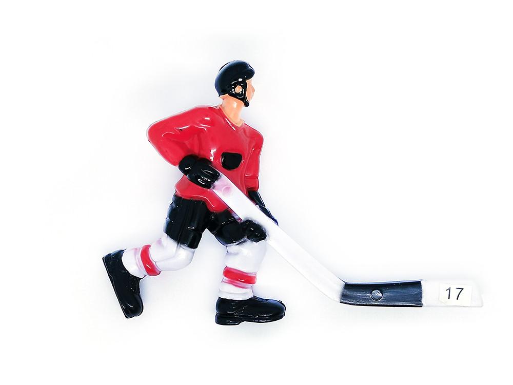 Хоккеист для настольного хоккея 17 красный
