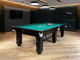 Бильярдный стол для пула Далас 11 футбол Ардезия 3.2 м х 1.6 м из натурального дерева, фото 3