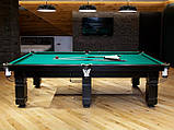 Більярдний стіл для пулу Далас 11 футбол Ардезія 3.2 м х 1.6 м з натурального дерева, фото 5