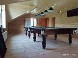 Бильярдный стол для пула КЛАССИК 2 7 футов ЛДСП 2.0 м х 1.0 м из натурального дерева, фото 3