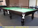 Бильярдный стол для пула КЛАССИК 2 ЛЮКС 9 футов Ардезия 2.6 м х 1.3 м из натурального дерева, фото 10