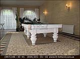 Бильярдный стол для пула КОРОЛЬ АРТУР 10 футов Ардезия 2.8 м х 1.4 м из натурального дерева, фото 4