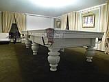 Бильярдный стол для пула КОРОЛЬ АРТУР 10 футов Ардезия 2.8 м х 1.4 м из натурального дерева, фото 5