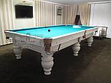 Бильярдный стол для пула КОРОЛЬ АРТУР 10 футов Ардезия 2.8 м х 1.4 м из натурального дерева, фото 6