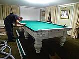 Бильярдный стол для пула КОРОЛЬ АРТУР 10 футов Ардезия 2.8 м х 1.4 м из натурального дерева, фото 8